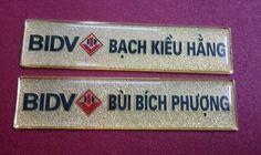thẻ nhân viên đồng ăn mòn mạ vàng BIDV