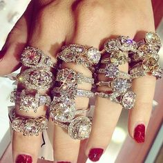 love this collection of cocktail rings