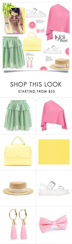 """""""sweet girl"""" by omniaasaad ❤ liked on Polyvore featuring Chicwish, Roland Mouret, Orciani, Filù Hats, STELLA McCARTNEY and Mignonne Gavigan"""