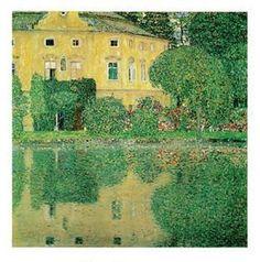 Gustav Klimt - Schloss Kammer Poster Kunstdruck (50x40cm) #35517