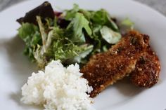 Panko-sesame crusted tilapia with ginger-scallion sauce