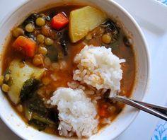 Sopa de Lentejas con Espinacas.