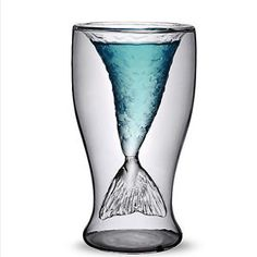 100ml Creative Crystal Mermaid Shaped Double Layer Glass Cup for Juice Drinking Features: - Special designed mermaid shape - Double layer glass, heat-resistant - Can be used as a useful drinking cup, also can be as a cool gift - Ideal for drinking juice, beer, wine, water, etc - Capacity: 100ml - Material: High borosilicate glass - Size: About 7.3 x 13.5 cm (Diameter-Length) - Color: Transparent  Package includes: 1- Glass cup   wholesale available, please write me for details