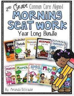 Could you use a quiet, independent, and meaningful activity for students to do as they are get settled in for the morning? This bundle will help your students tackle the 2nd grade common core standards in fun (and very cute) monthly themed packets. This yearlong bundle of morning seat work is a very thorough and comprehensive review of essential 2nd grade common core standards. This pack of morning seat work provides a fun and engaging way for students to review the math and ELA common core…