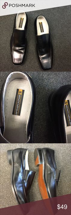 Stacy Adams leather shoes Stacy Adams black total leather shoes excellent condition Stacy Adams Shoes Loafers & Slip-Ons