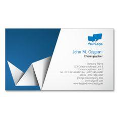 Choreographer Business Card Origami Folds
