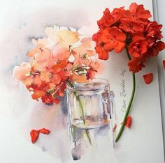 Watercolour drawings by olena.duchene (instagram) https://www.instagram.com/olena.duchene/
