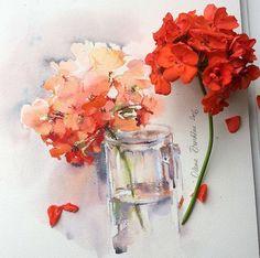 Watercolour drawings by olena.duchene (instagram) https://www.instagram.com/olena.duchene/