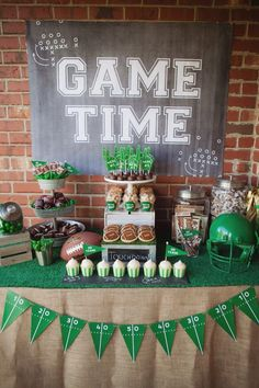 Main table from Tailgate Football Birthday Party at Kara's Party Ideas. See more at karaspartyideas.com!