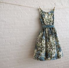 Head over heals in love with this dress! teal bloom tea dress  by sohomode on @Etsy