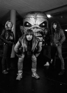 Iron Maiden - complete with 'Killer Eddie' in the background..