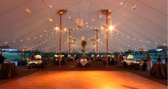 Tent Lighting - hanging lanterns???? esp. if only doing 1 lantern on each table