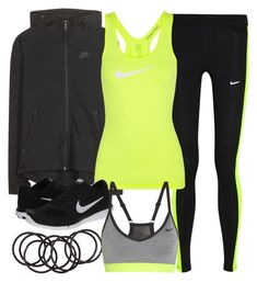 """""""Style #9645"""" by vany-alvarado ❤ liked on Polyvore featuring H&M and NIKE"""