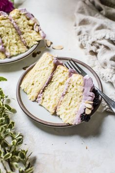 ... blackberry lavender almond cake ... #recipes  #cake