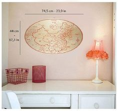 China wooden  wall map