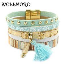leather bracelet 6 color bracelets summer charm bracelets Bohemian bracelets&bangles for women Christmas gift wholesale B1627