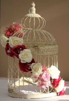 Absolutely beautiful Birdcage, Cards Post Box for your Wedding Reception from www.thedayofourdreams.co.uk