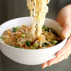 Quick Homemade Ramen - comes to life with fresh vegetables and herbs in just in 20 minutes! | pinchofyum.com #ramen #quickandeasy #easyrecipe #recipe #easydinner