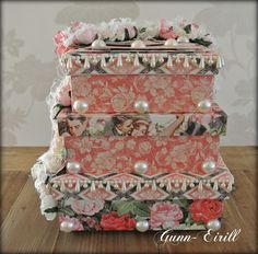 Gunn-Eirill`s Paper Magic: Wedding box/ DT Wild Orchid Crafts