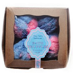 Cotton Candy Bubble Bath Truffles Take 1 scoop and place under running water and watch the bubbles build up. A blend of fresh strawberry and French vanilla.