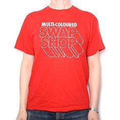 Multi Coloured Swap Shop T Shirt Classic Kids Tv Retro Design Costume Fab! Swap Shop, 70s Costume, Kids Tv, Great T Shirts, Old Skool, 70s Fashion, Dory, Cotton Tee, One Pic