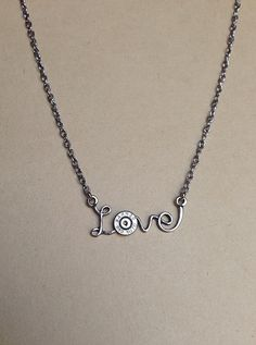 Bullet jewelry. Love. Bullet necklace. Valentine's Day