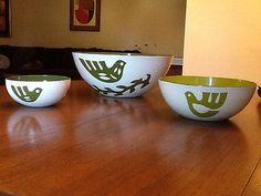 Hanova of Pasadena Enamel Dove Nesting Bowl Set