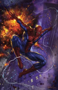 Marvel Comics. Comic Book Artwork • Spider-Man by Lucio Parrillo. Follow us for more awesome comic art, or check out our online store www.7ate9comics.com