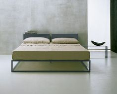 Asha Slim Bed- Property Double Bed Designs, Minimal Home, Double Beds, Bed Furniture, Declutter, Metal Working, Mattress, Minimalism, Master Bedroom