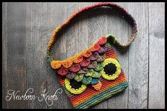 #crochet owl bag free pattern <3