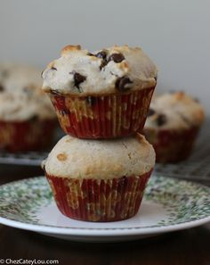 Chocolate Chip Cinnamon Muffins - perfect for Christmas breakfast! | ChezCateyLou.com