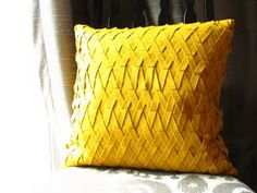 DIY felt lattice pillow inspired by West Elm