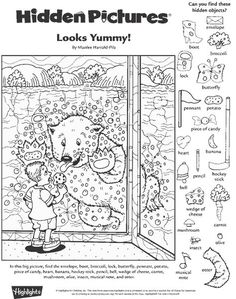 Looks Yummy! Hidden Pictures Puzzle
