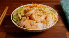 Sushi Bowls-hold the avocado please! - Delish.com Shrimp Sushi Bowl, Fish Dishes, Seafood Dishes, Seafood Recipes, Crawfish Recipes, Main Dishes, Sushi Recipes, Asian Recipes, Dinner Recipes
