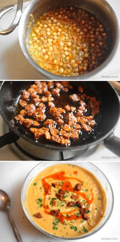 Creamy Chickpea and Crispy Chorizo Soup