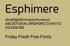 Esphimere - Friday Fresh Free Fonts