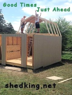 DIY Shed Design - Free Storage Shed Plans - Building Ideas and Plans - Readeary Joseph Diy Storage Shed Plans, Wood Shed Plans, Shed Building Plans, Building Ideas, Barn Plans, Diy Storage Building, Diy Shed Kits, Storage Beds, Coop Plans