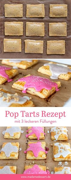 Pop Tarts Recipe to Do It Yourself Madame dessert - Modern Breakfast Recipes, Dessert Recipes, Desserts, Pop Tarts, Yummy Treats, Yummy Food, Cupcakes, Cooking With Kids, Sweet Tooth