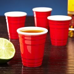 The ultimate party accessory has now been miniaturized! Enjoy a shot of liquor from our red party cup shot glass set. Crafted from ceramic and painted to look like the iconic red drinking cup, this...