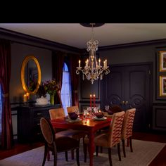 Romantic Contemporary Dining Room