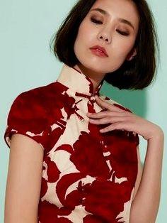 Modern qipao detail : Shanghai Tang                                                                                                                                                                                 Mehr
