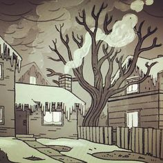 More background roughs today. by heyryana