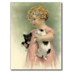 VINTAGE VICTORIAN Stray Pet Adopt Rescue  POSTCARD