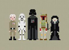 Star Wars villains cross stitch pattern. Free. ($0)