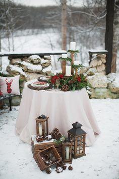 Russian Rustic Christmas Wedding Inspiration Wedding Arbor Rustic, Rustic Wedding Colors, Rustic Wedding Backdrops, Best Wedding Colors, Winter Wedding Colors, Winter Wedding Inspiration, Winter Bride, Table Wedding, Rustic Weddings