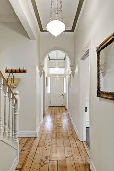 Victorian hallway lighting hallway lighting hallway ideas say it clear and simply outdoor lighting victorian house lighting ideas hallway Entrance Design, House Entrance, Entrance Halls, Entrance Foyer, Entryway Decor, Floor Design, House Design, Victorian Hallway, Hallway Inspiration