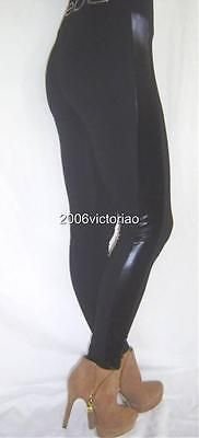 New BEBE Logo Black Tuxido Leggings sz XS 229077 Pants