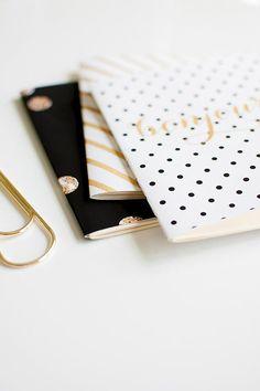 SANTÉ mini blank notebook jotter three pack