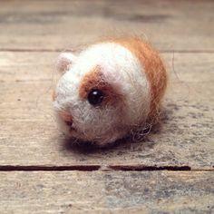 Needle felt guinea pig.