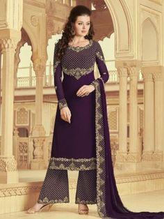 Salwar Kameez - Buy Indian Designer Salwar Kameez Online In USA Pakistani Suits, Pakistani Dresses, Punjabi Suits, Nikkah Dress, Indian Dresses, Indian Outfits, Sharara Suit, Salwar Suits, Frock Dress